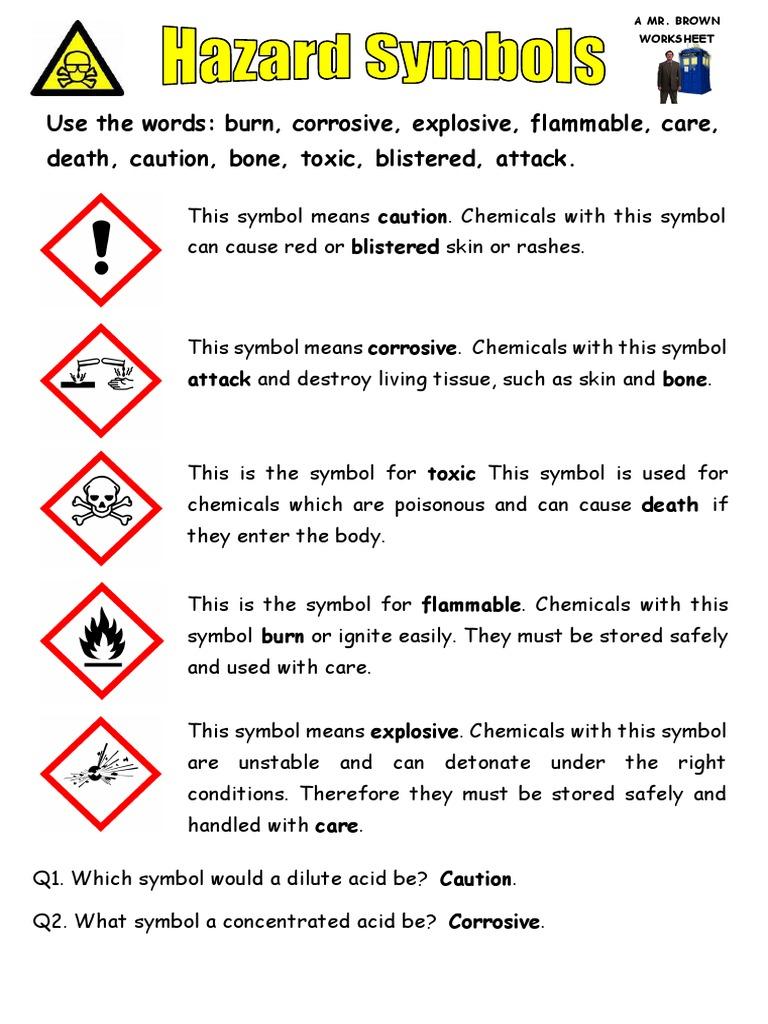 Hazard symbols answers db buycottarizona