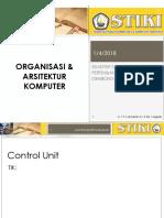 Perkuliahan 12 - Organisasi Dan Arsitektur Komputer - Control Unit