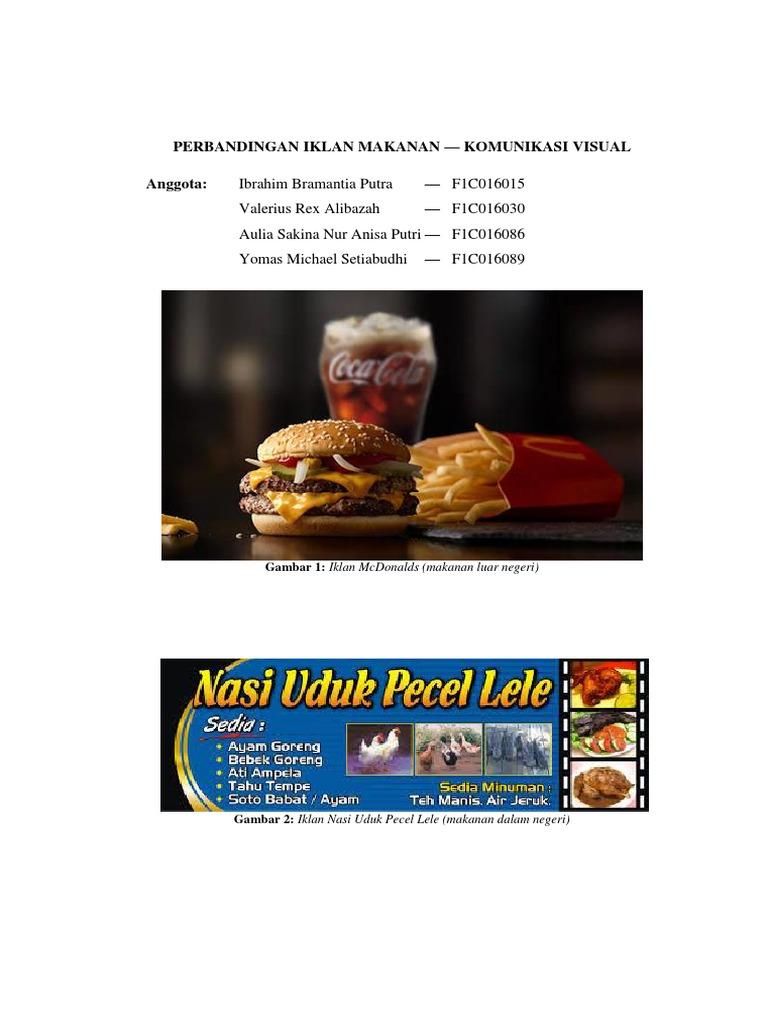 Perbandingan Iklan Makanan