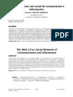 La web 2.0 como red de comunicación e intercambio, Cebrian