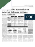 Recuperación económica de América Latina se sostiene