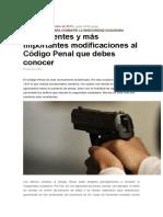 Modf Cod Penal