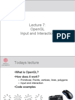Lecture07 OpenGL Interaction