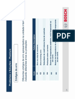 Códigos de Erro Split Bosch