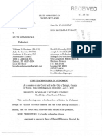Davontae Sanford Order of Judgment