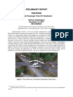 NTSB - Amtrak Train Derailment Preliminary Report