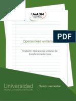 Unidad 3. Operaciones unitarias de transferencia de masa