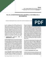 Rol de Las Microfinanzas en El Desarrollo Sostenible de La Microfinanza