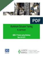 Aluminium Extrusion Training Aluminium E