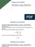Hydrogen Atom 1 Soln