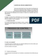 Control Dentro Del Proceso Administrativo Viernes