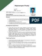 Resume of b. Rajanarayan Prusty