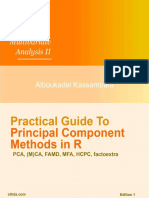 Practical Guide to Principal Component Methods in R Multivariate Analysis Book 2 by Alboukadel Kas