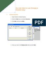 Outlook Orange SMTP Authentication Client Setup