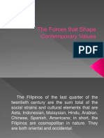 The Forces That Shape Contemporary Values