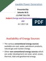 1)Conventional -Non Renewable Power Generation
