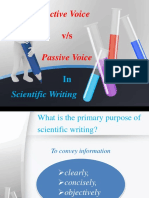 Active Voice vs Passive Voice in Scientific Writing