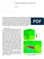 Numerical Simulation of Tunnel Construction in Volcanic Rocks