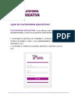 Modalidades de Servicio Plataforma Educativa