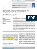 Effectiveness of the Eccentric Exercise Therapy in Physically Activeadults With Symptomatic Shoulder Impingement or Lateralepicondylar Tendinopathy