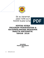Kertas Kerja Program Peningkatan Akademik Panitia Matematik
