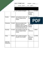 Psychiatry Daily Time Log Week 3 Akbar Shakoor.docx