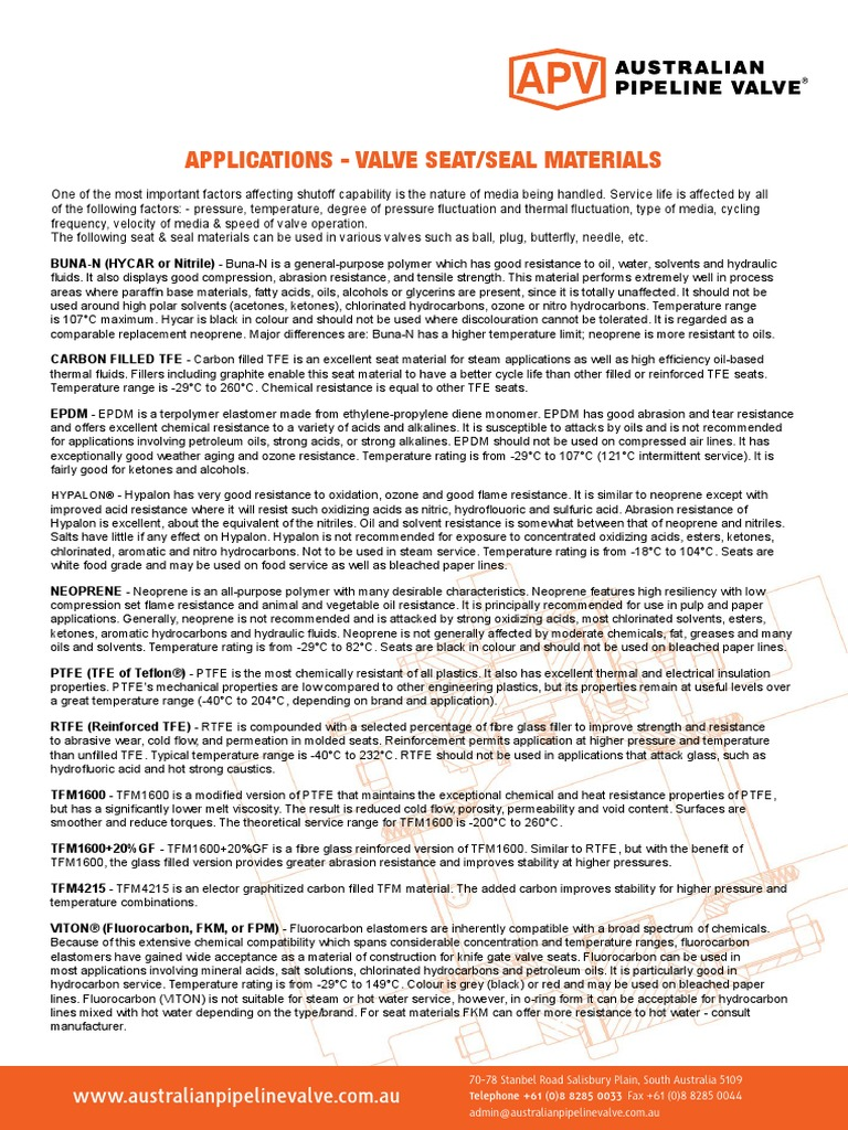 Valve_Seat_Seal_Materials_Service_Applications pdf   Carbon   Graphite