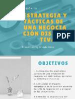 SESIÓN 3. Estrategia y tácticas de una negociación distributiva