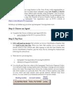 Immigrant Visa Steps