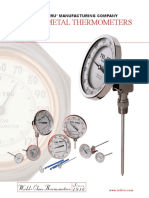 Teltru Bimetal Thermometers Datasheet