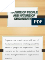 III. the Nature of People and Organization