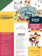 Las Acciones Educativas Para Una Cultura de La Paz
