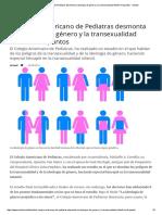 El Colegio Americano de Pediatras Desmonta La Ideología de Género y La Transexualidad Infantil en 8 Puntos - Actuall