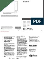 Sony KDL-32W5500 Manual
