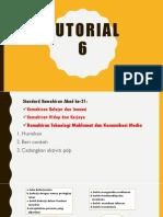 Tutorial 6