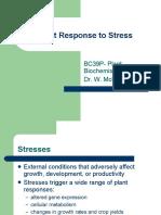 Plant Response to Stress