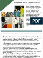 Sandeep Marwah Inaugurated Cultural Program at ISKCON