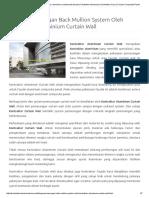 Curtain Wall Back Mullion System