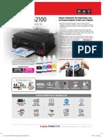 CANON Pixma G2100 Brochure