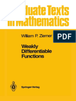 Weakly Differentiable Functions, William P. Ziemer