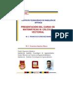 PRESENTACIÓN DEL CURSO DE CÁLCULO VECTORIAL
