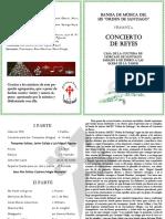 Programa Concierto de Reyes 2018 Banda Ies Orden de Stgo