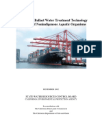 California Environmental Protection Agency (CEPA), 2002. Evaluation of Ballast Water Treatment Technology for Control of Aquatic Non-Indigenous Organisms. STATE WATER RESOURCES CONTROL BOARD