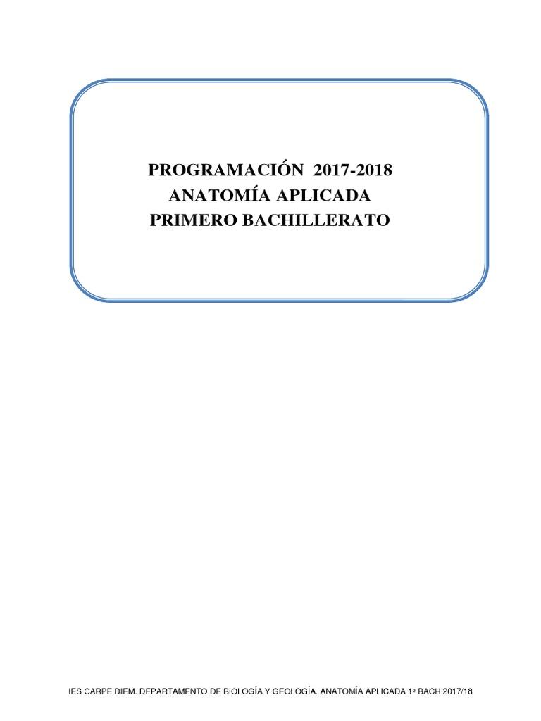 Anatomía Aplicada 17-18