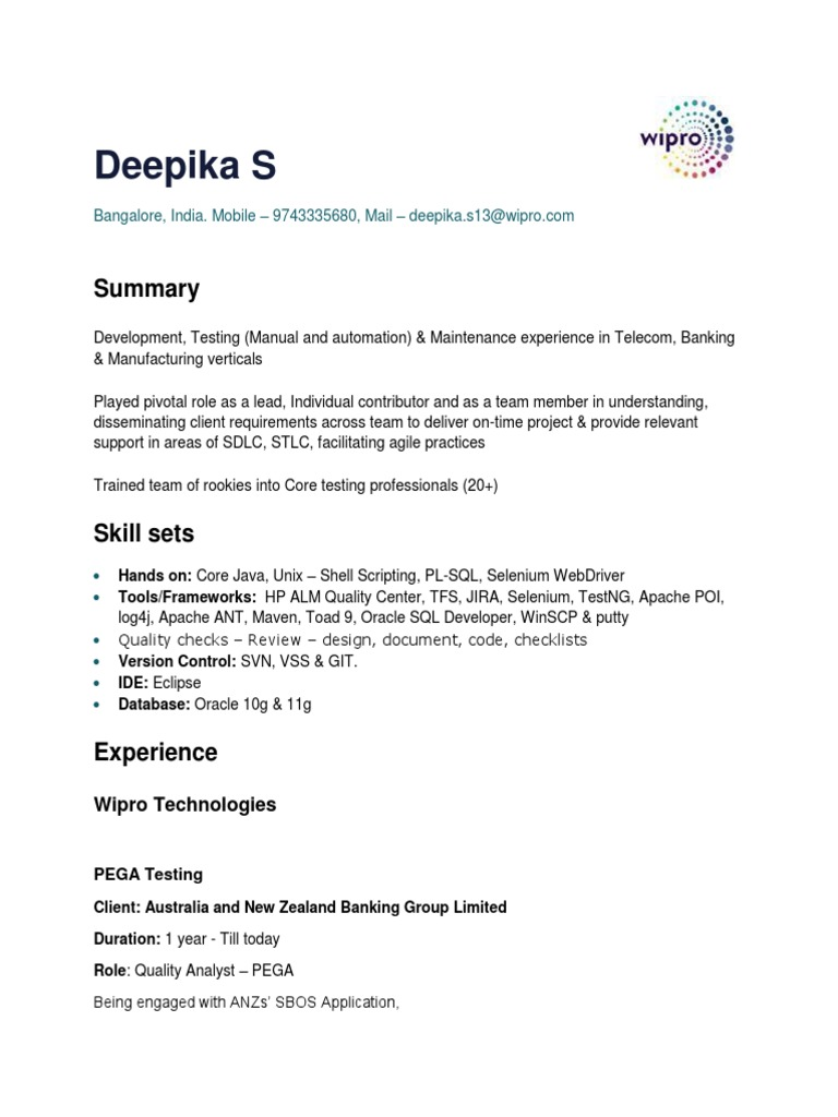 Deepika_S | Scrum (Software Development) | Automation