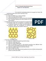 12 Chemistry Notes Ch01 the Solid State
