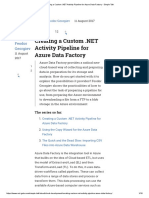 Creating a Custom NET Activity PipeLine for Azure Data Factory