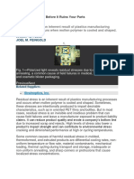 Measuring Internal Stress Using Polarised Light