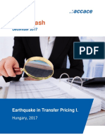 Earthquake in Transfer Pricing I. Hungary, 2017