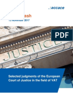 Selected judgments of the European Court of Justice in the field of VAT